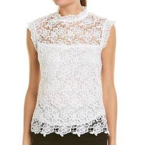 Nanette Lepore White Lace Top